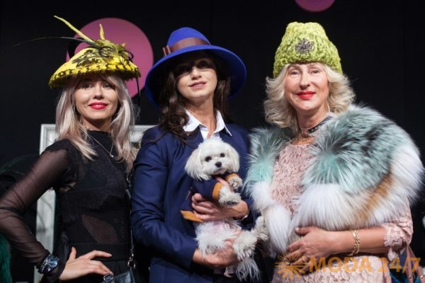 Софи Строкатто и гости презентации Дома шляпки Lilia Fisher