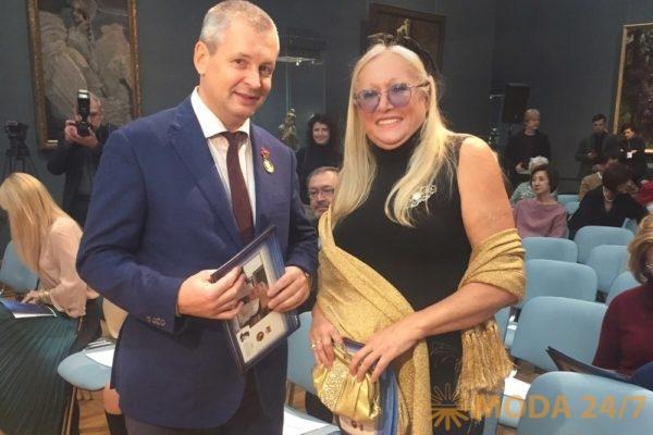 Сергей Курасов (Ректор МГХПА им. С.Г. Строганова) и Татьяна Михалкова