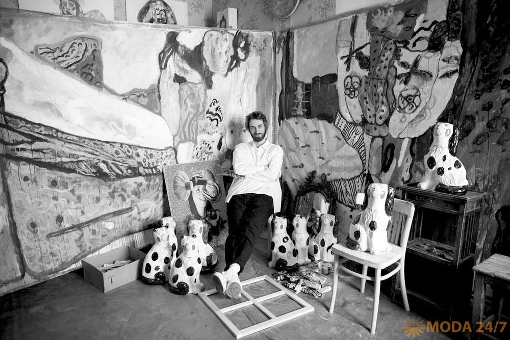 Выставка ПОЭТКА от Сергея Бондарева. Сергей Бондарев, портрет. Фото: Артем Усачёв