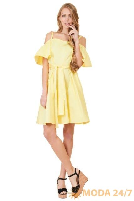 Платье с рукавами-крылышками BAON by Liasan Utiasheva
