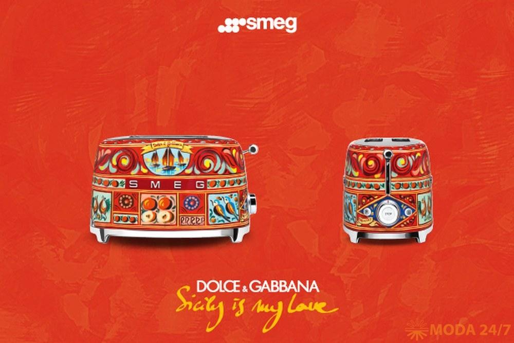 Тостер (коллекция Sicily is My Love, в дизайне D&G) SMEG