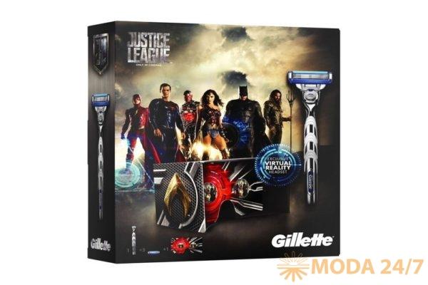 Набор Gillette Mach3 Turbo Лига справедливости.