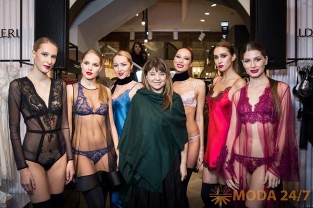 Юлия Добрин и модели I.D. Sarrieri в Москве