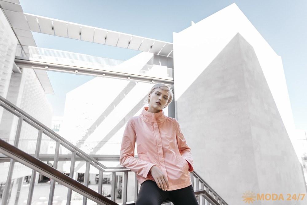Розовая ветровка GEOX SS-2018. Женская коллекция одежды GEOX SS-2018 (весна-лето 2018)