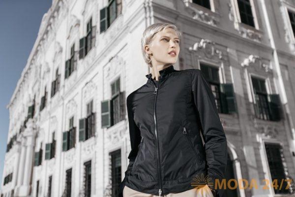 Черная ветровка GEOX SS-2018. Женская коллекция одежды GEOX SS-2018 (весна-лето 2018)