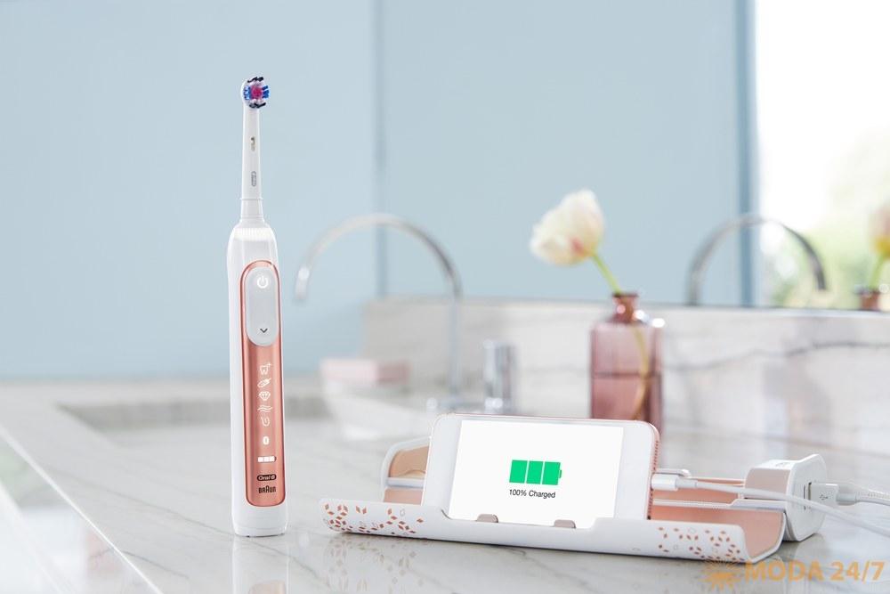 Электрическая зубная щетка Oral-В GENIUS. Что взять с собой в отпуск: советы стоматолога