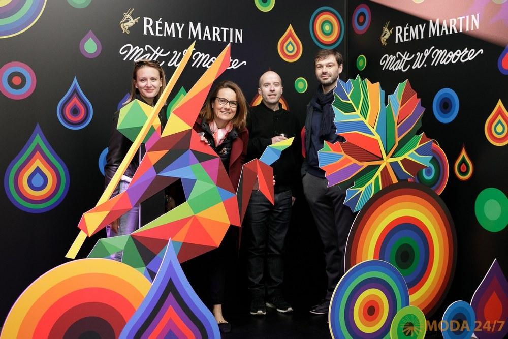 Rémy Martin и художник Мэтт Мур представили в Москве новый арт-проект