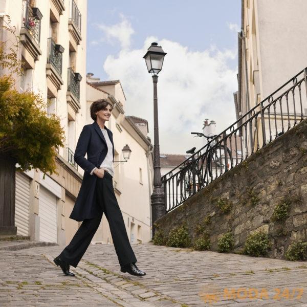 Инес де ля Фрессанж (Inès de la Fressange) в новой коллекции для Юникло. Инес де ля Фрессанж для UNIQLO