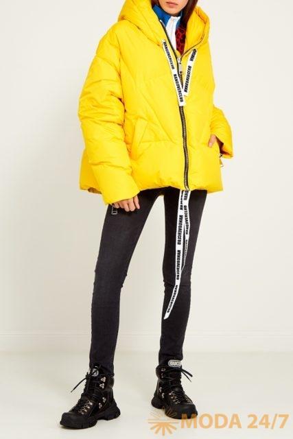 Желтый пуховик Khrisjoy. Осенний гардероб Aizel