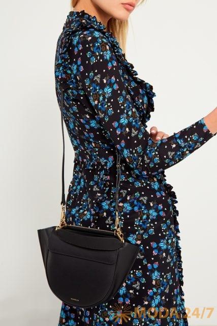 Черная сумка Wandler Hortensia Medium Black. Осенний гардероб Aizel