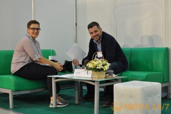 Директор выставки MosShoes и Антон Котов. MosShoes: новые проекты