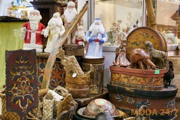 Антикварные деды морозы. Декабрьский «Блошиный рынок» на Тишинке