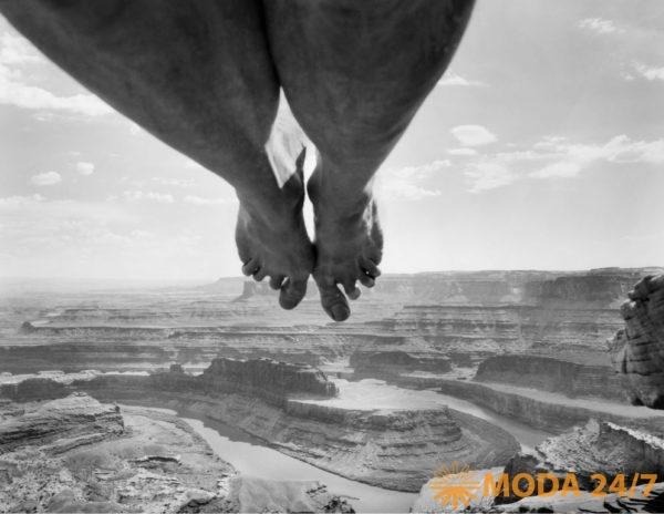 ©Arno Rafael Mikkinen. Self-portrait, Dead Horse Point, Utah, USA. 1997. Моменты откровения Минккинена. Арно Рафаэль Минккинен
