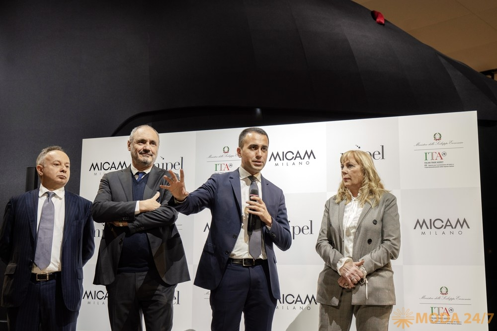 Представители Assocalzaturifici и Министр Луиджи Ди Майо (Luigi Di Maio). #Micam 87 сезон
