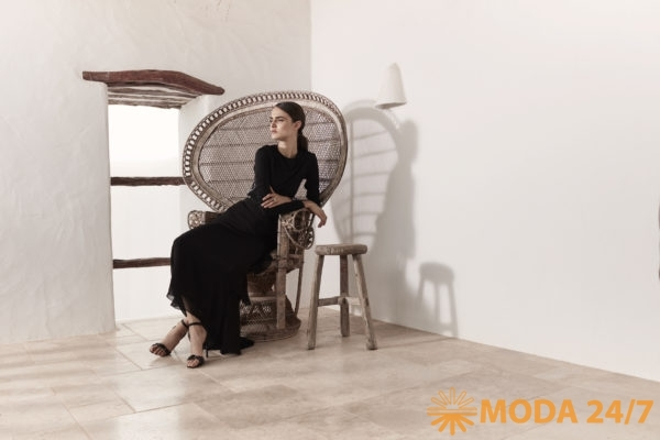 Черное платье для танго Ruched Карл Лагерфельд
