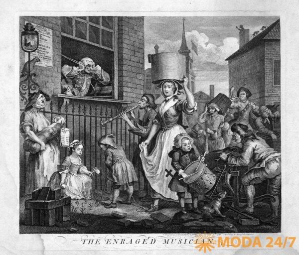 The Enraged Musician (1741) William Hogarth