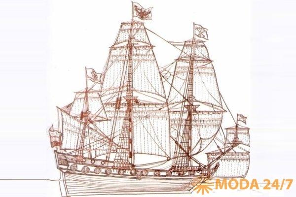 Боевой трехмачтовый корабль Петра Первого (1703) Фрегат «Штандарт»