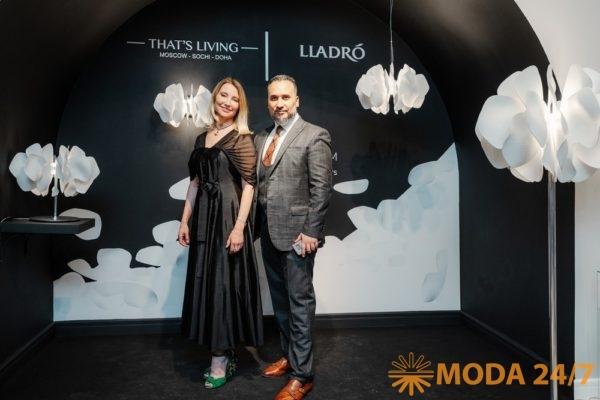 Татьяна Грамон, телеведущая и Селим Зергот, генеральный директор That's Living на презентации Nightbloom