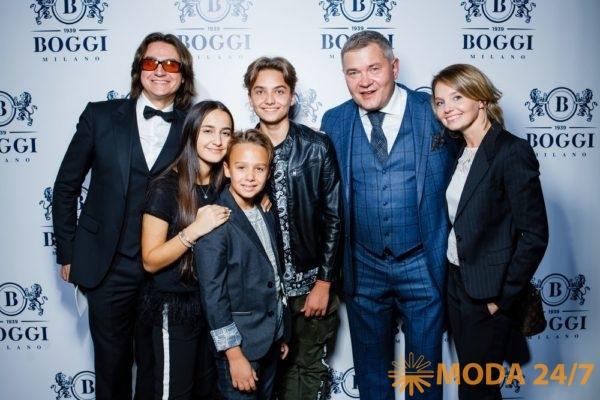 Boggi Milano в Москве. Сергей Филин с семьей, Ивена Работова и Вячеслав Шикулов