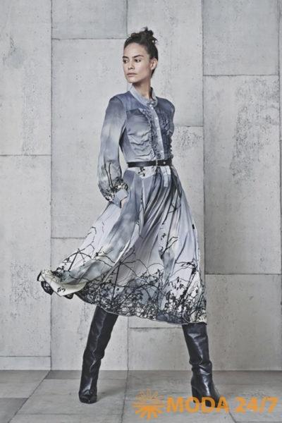 Платье с принтом HIGH