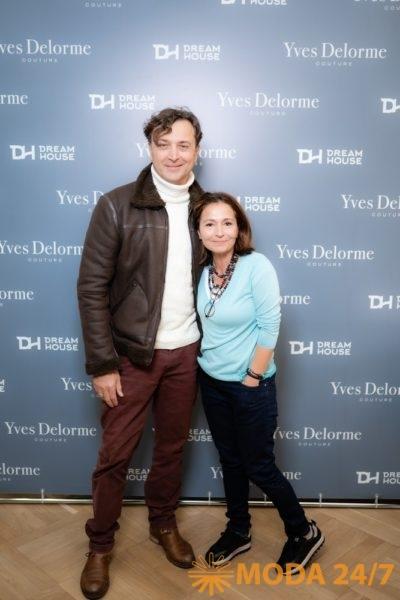 Александр Лазарев (младший) с супругой Алиной. Yves Delorme Couture в Dream House