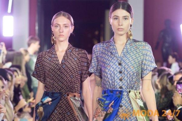 Алена Ахмадуллина весна-лето 2020. Платья с пристежными платками