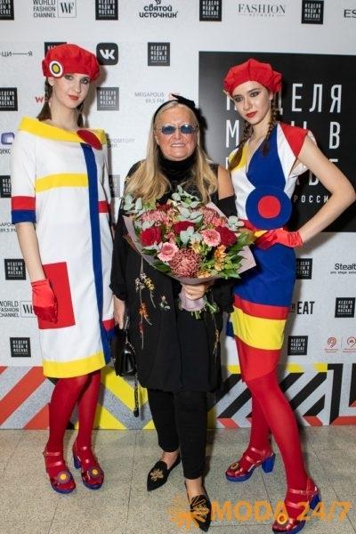 Татьяна Михалкова на Неделе моды в Москве с коллекцией-победителем конкурса «Русский Силуэт»