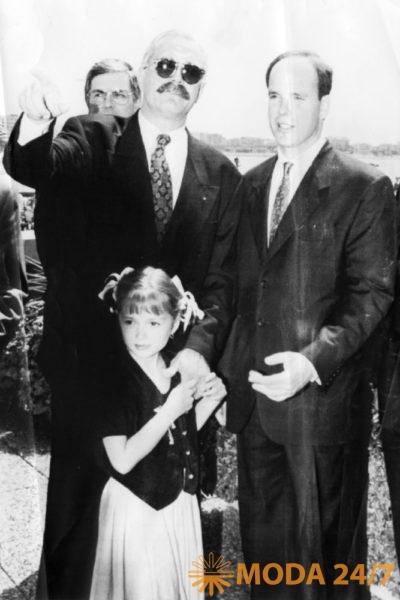 Принц Монако Ренье и семья Михалковых