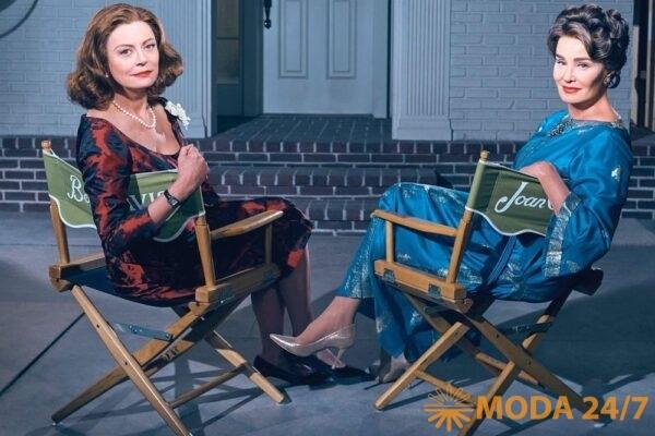 Лу Эйрич – художник по костюмам. Сьюзан Сарандон (Susan Sarandon) и Джессика Лэнг (Jessica Lange) в сериале «Вражда»