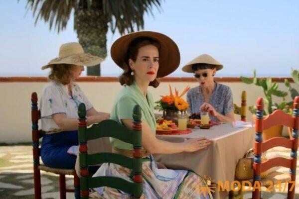 Синтия Никсон, Сара Полсон и Джуди Дэвис, кадр из сериала «Сестра Рэтчед»