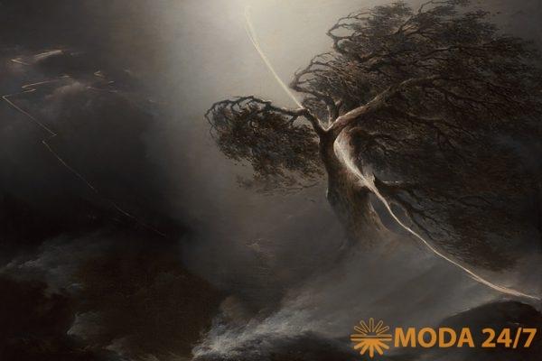 Мечты о Свободе. М.Н. Воровьев «Дуб, раздробленный молнией» («Буря»), 1842