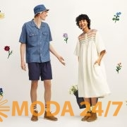 Панама, рубашка, шорты и платье. Юникло и Джонаттан Андерсон весна-лето 2021