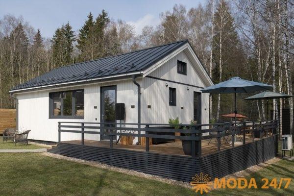 Как украсить свой садю Дом построенный по скандинавской технологии