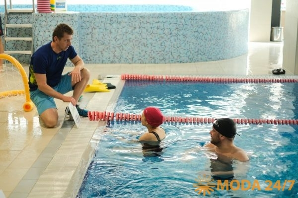 Первое занятие с новым гаджетом для контроля плавания