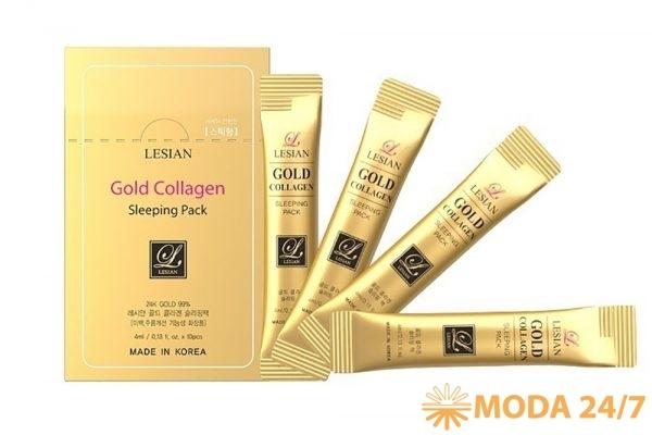 Ночная маска с коллагеном и ионами золота 24К Lesian Gold Collagen