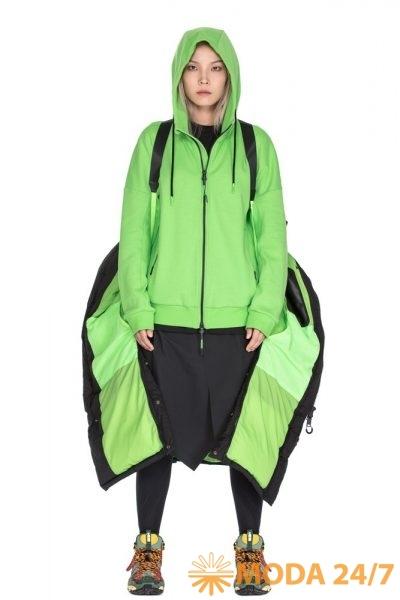 Неоново-зелёный свитшот