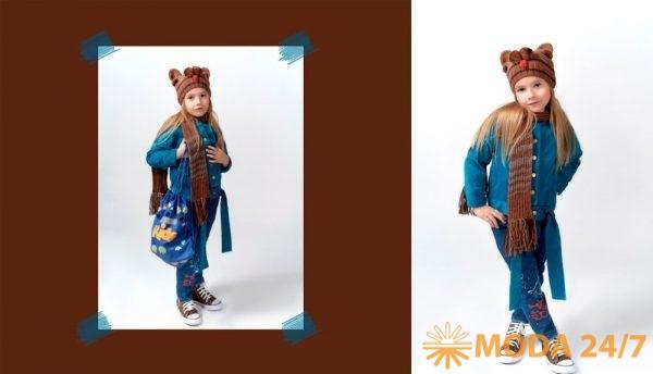 Алина Березина. Джинсы с котами, вельветовая куртка с шапкой – с мордочкой котика и шарфом