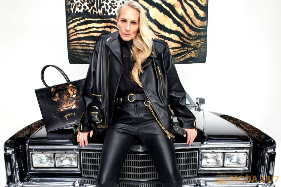 Байкерская куртка и кожаные брюки. Roberto Cavalli fw-2021/22