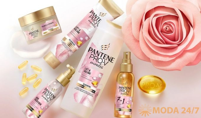 Pantene Pro-V Rose Miracles с розовой водой и биотином «Объем от корней до кончиков»