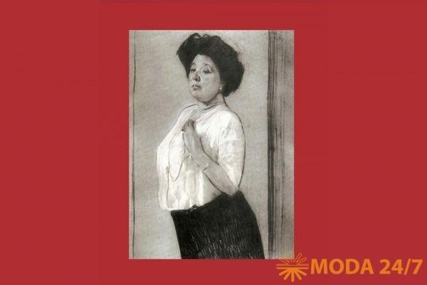 Незаконченный портрет Н. П. Ламановой работы В.А.Серова, 1911 г. Портрет к 50-летию Надежды Петровны стал последним для художника