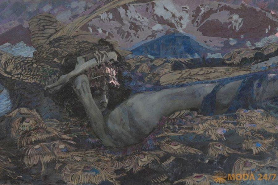 Врубель летящий. «Демон поверженный», М.А. Врубель, 1902